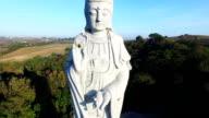 Buddha statue aerial shooting video