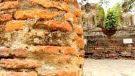 Buddha statue in  Ayuthaya Thailand. video