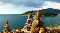 Buddha Statue Near The Ocean video
