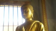 Buddha Statue Top Of Body And Face video