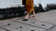 Buddhism Monk walking. HD video