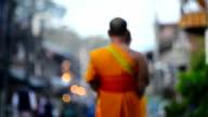 Buddhism Monk walking video
