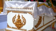 Buddhist coffin in Funeral Traditions video