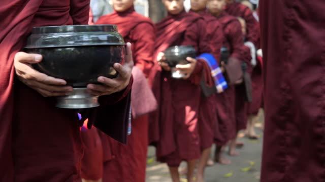 Buddhist Monks at Mahagandayon Monastery, Mandalay, Myanmar video