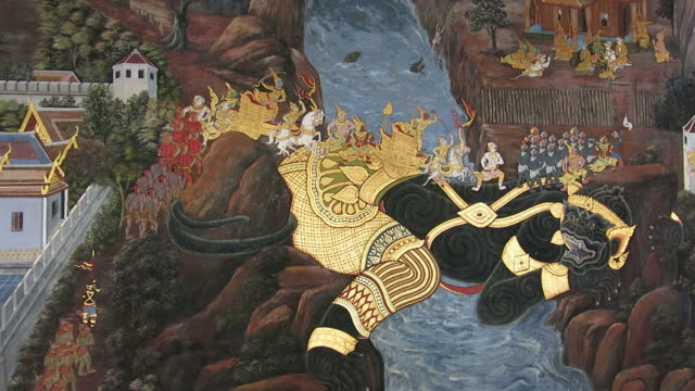 Buddhist mural video
