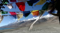 Buddhist praying flags video