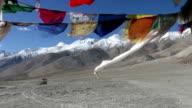 Buddhist praying flags video