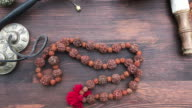 Buddhist religious rosary video