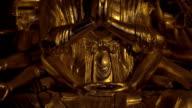 Buddhist statue of Quan Am in Bai Dinh Temple, Vietnam video