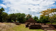 Buddhist temple at Wiang Kum Kam timelapse, Chiangmai Thailand. video