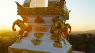 Buddhist Temple in rural Thailand video