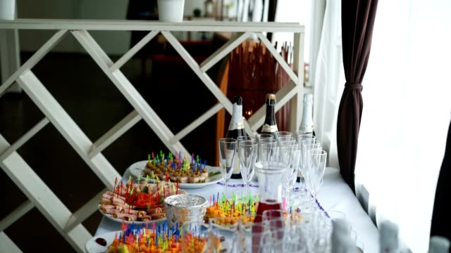 Buffet table and drinks video