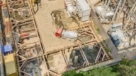 TL: build underfloor by cement trucks. video