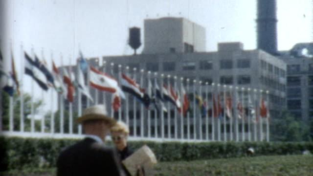 UN Building 1950's video