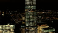 AERIAL, CLOSE UP: Building a skyscraper in Downtown Manhattan financial district video