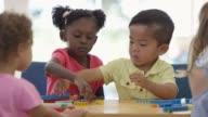 Building Blocks Together in Preschool video
