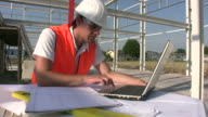 Building Contractor under construction site video