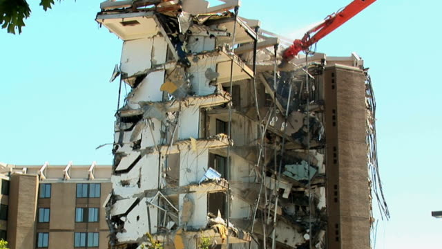 Building demolition and collapse video