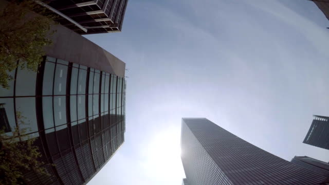 Building - look up at the sky -4K- video