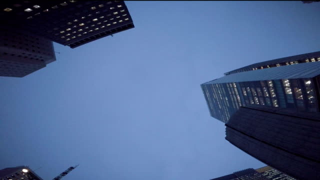 Building - look up at the sky at night video