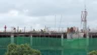 Building work in Nairobi, detail shot video
