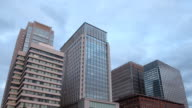 Buildings and Clouds Time Lapse video