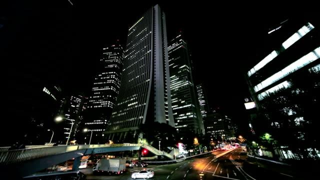 buildings at night in Shinjuku, Japan video