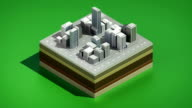 3D buildings makes city, Three dimention illustration view. video