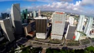 Buildings of Downtown Miami aerial video video