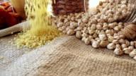 Bulgur Wheat Falling video