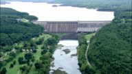 Bull Shoals Lake And Dam  - Aerial View - Arkansas, Marion County, United States video