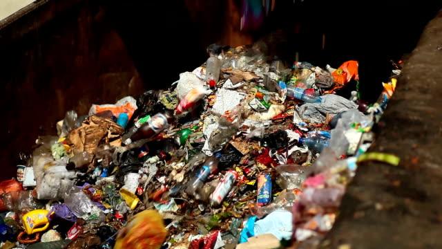 bulldozer packs up waste video