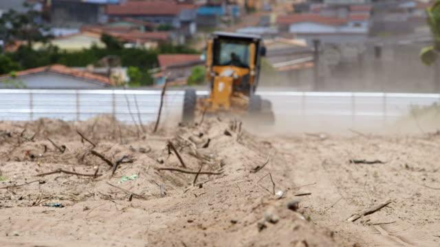 Bulldozing a construction site video