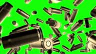 Bullets flight  Green screen video