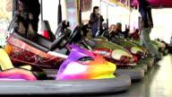 Bumper Cars at Amusement Park video