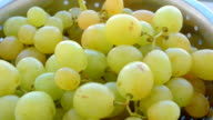 bunch of white grapes from the market video
