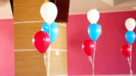 Bunches Of Colourful Balloons Decorating Room video