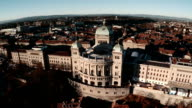 Bundeshaus or Federal Palace in Bern by Aerial View video