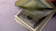 Bundle of American USD Money is on Table video