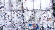 PAN Bundle Of Paper Garbage Close-up video