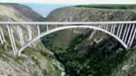 Bungee jumping, Bloukrans Bridge, Western Cape, South Africa video