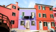 HD 1080 :  Burano's Colored Houses - Venice video