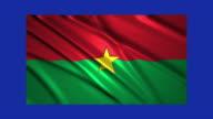 Burkina Faso flag waving,loopable on blue screen video