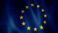 Burlap European Union Flag. video