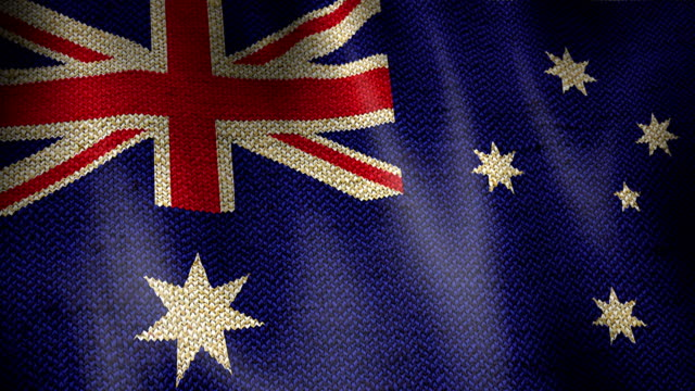 Burlap Flag of Australia. video