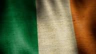 Burlap Flag of Ireland. video
