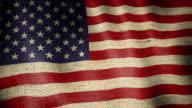 Burlap Flag of United States. video
