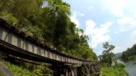 Burma Railway. Time Lapse. HD 1920*1080. video