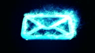 burning blue email animation video