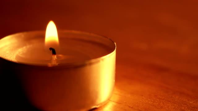 burning candle shot video